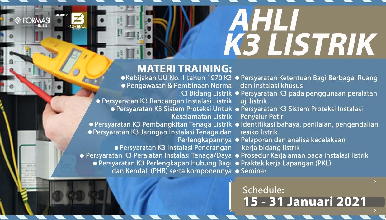 Pelatihan Ahli K3 Listrik
