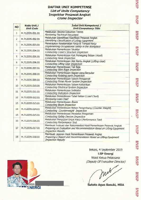 contoh sertifikat BNSP bagian belakang