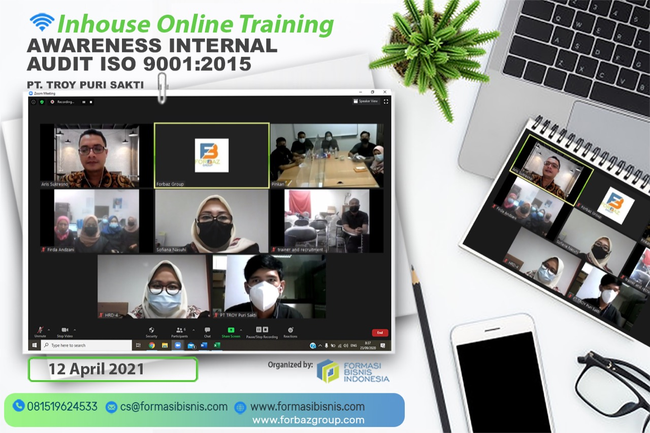 Online Training Awareness ISO 9001 : 2015 PT. Troy Puri Sakti 12 April 2021
