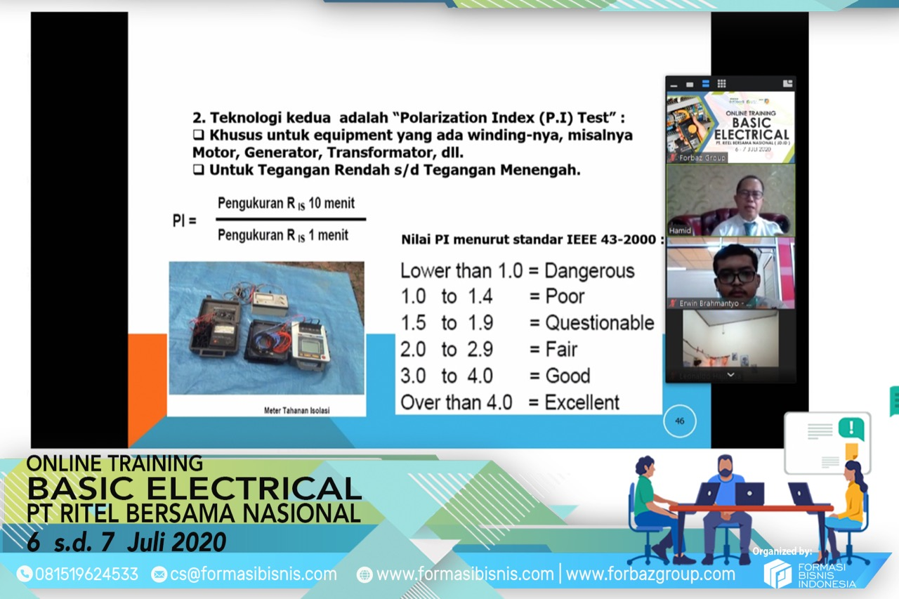Online Training Basic Electrical JDID 6-7 Juli 2020