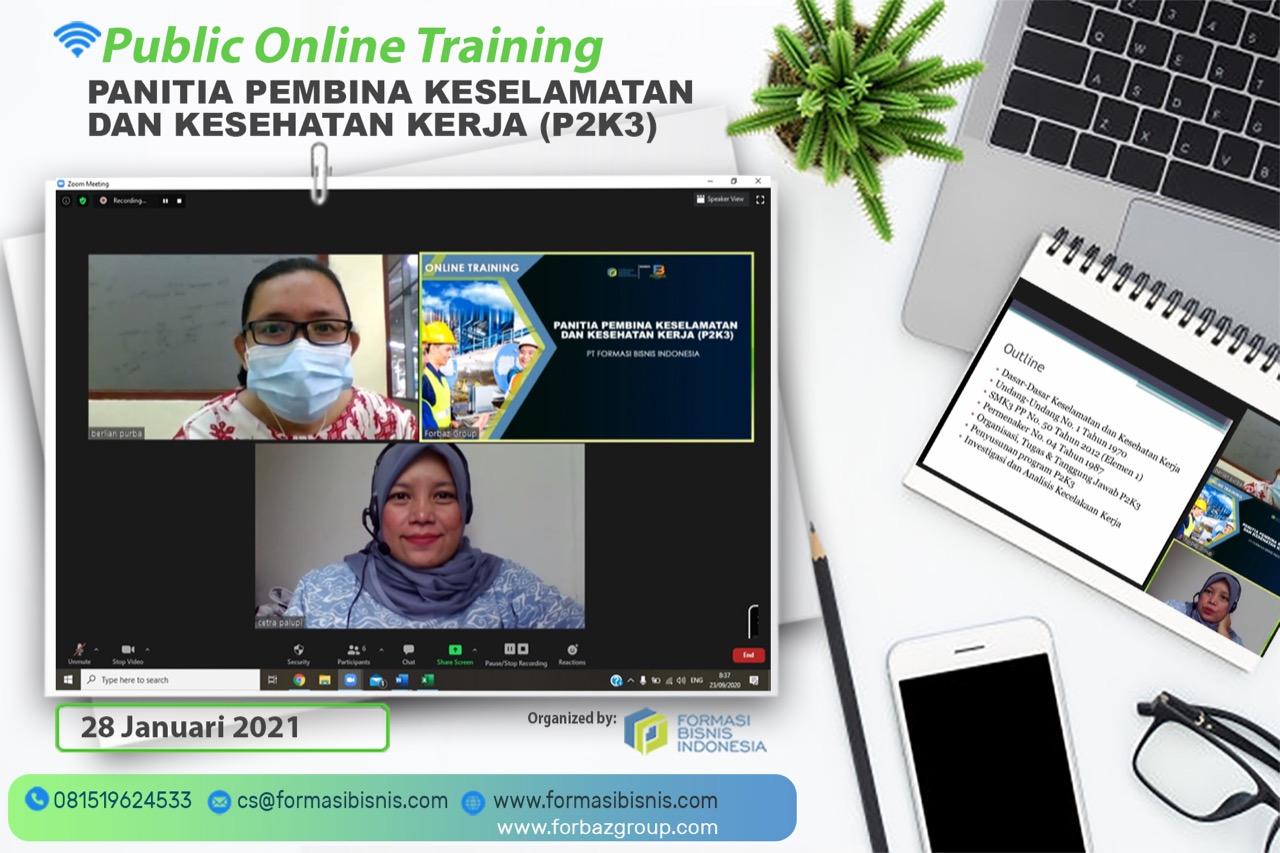 Online Training Awareness P2K3, 28 Januari 2021