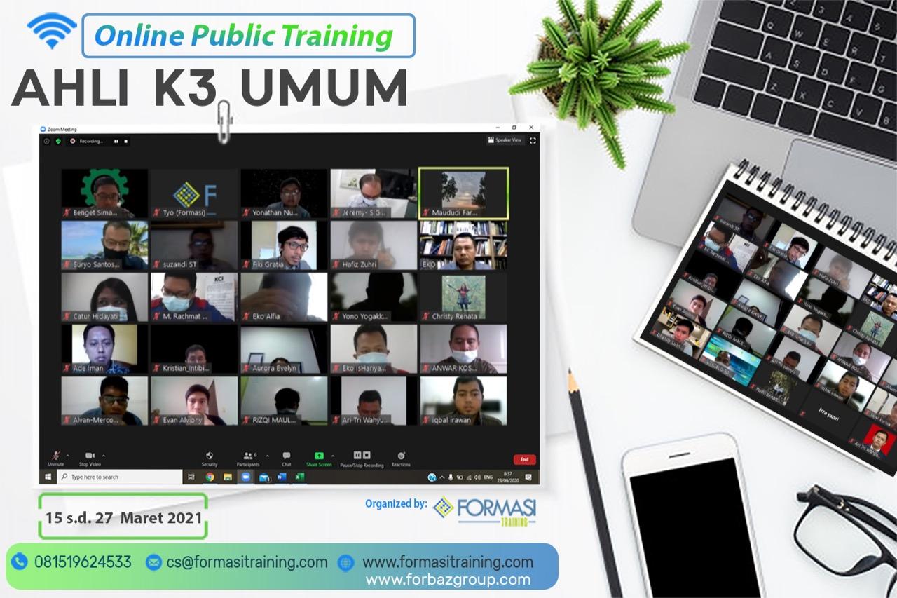 Online Public Training Ahli K3 Umum 15-27 Maret 2021