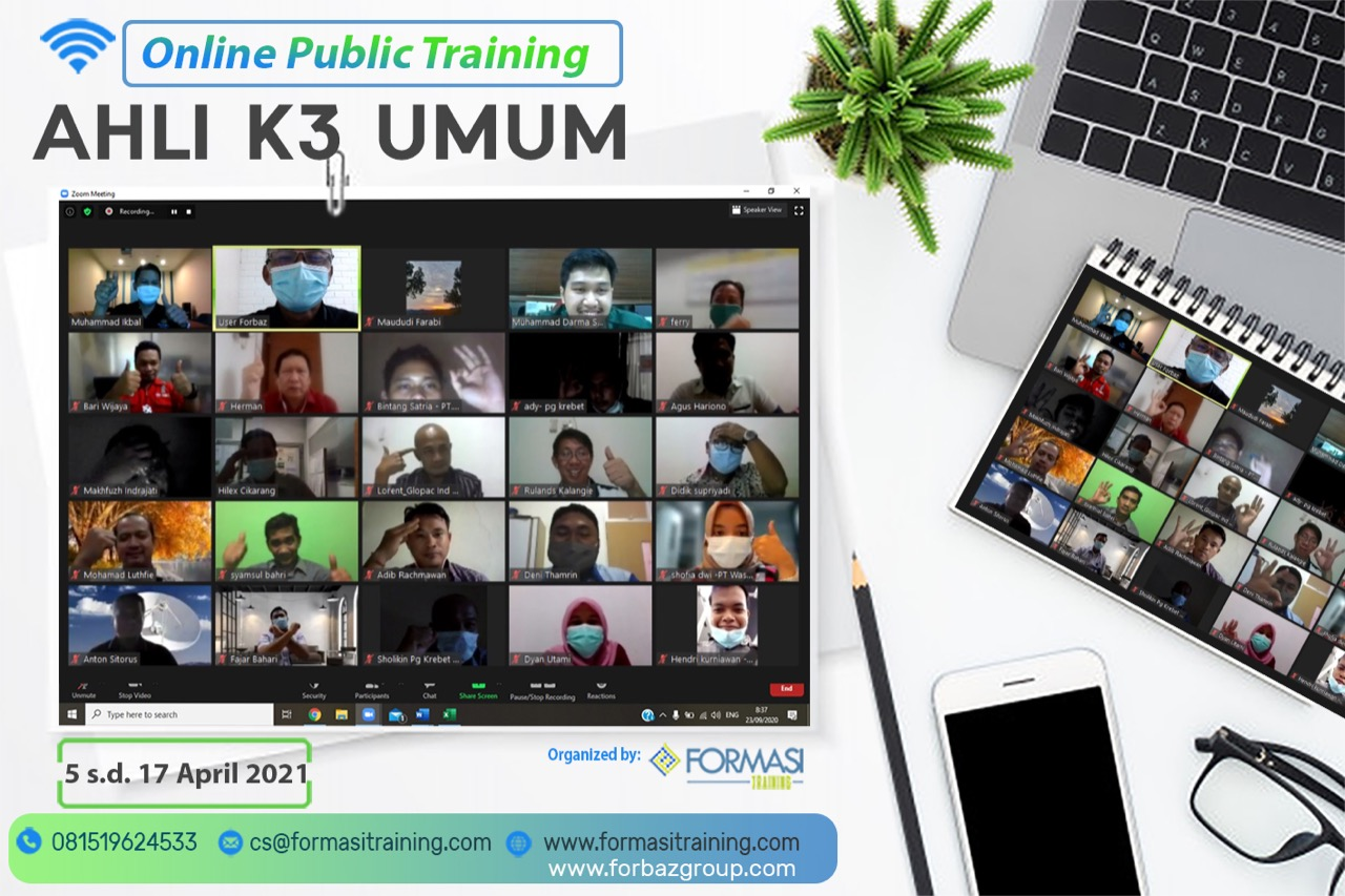 Online Training Ahli K3 Umum 5-17 April 2021