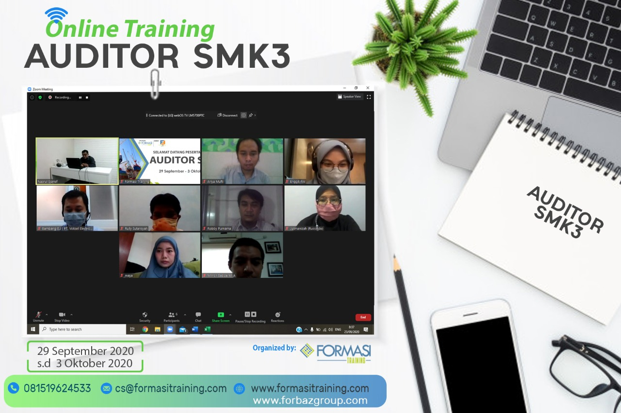 Online Training Auditor SMK3, 29 Sept s.d. 3 Okt 2020