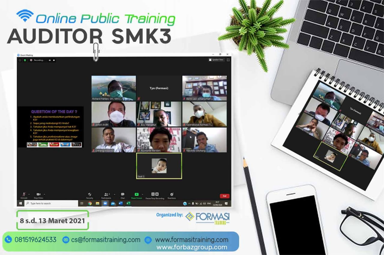 Online Training Auditor SMK3 8-13 Maret 2021