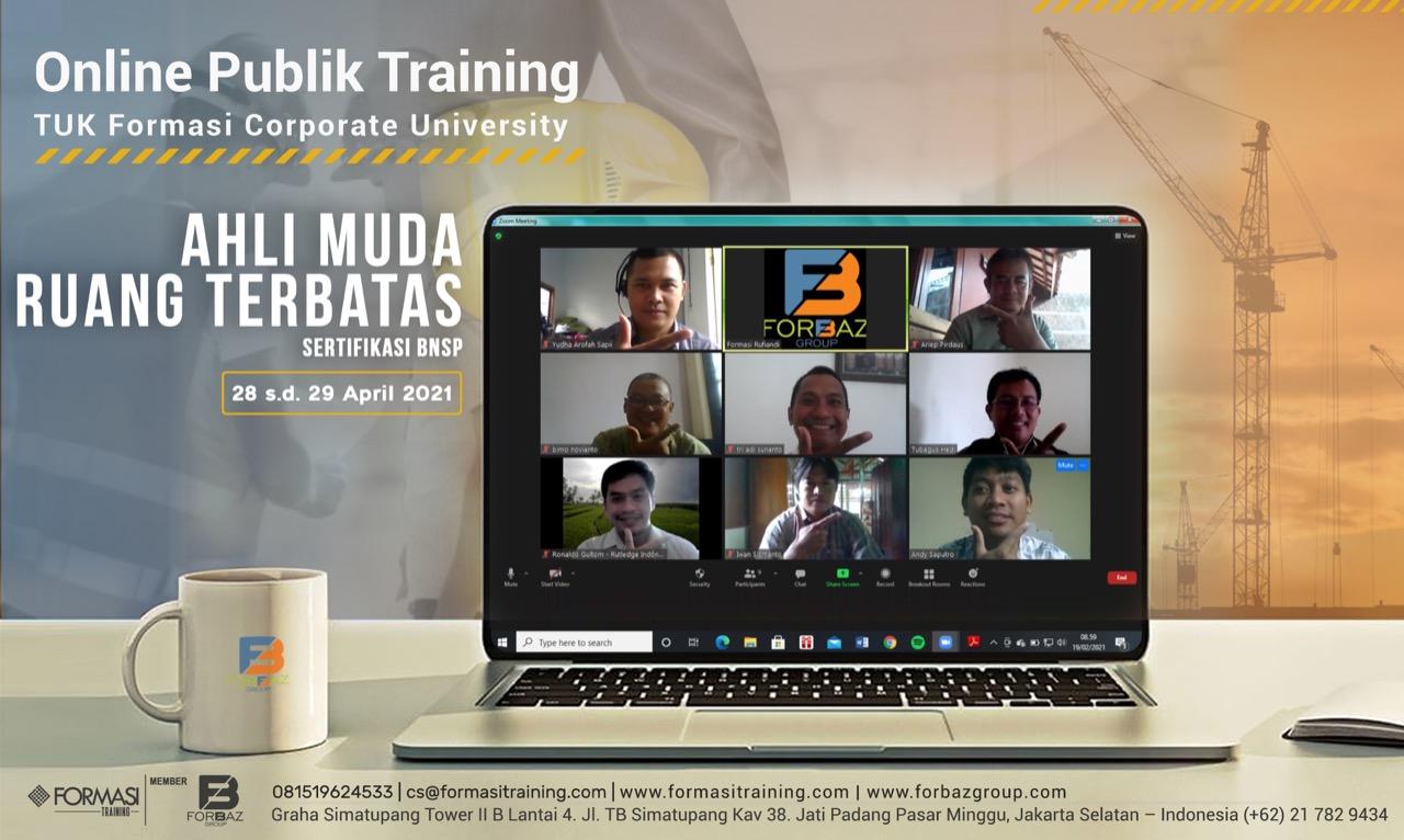 Online Training Ahli Muda Ruang Terbatas BNSP, 28 - 29 April 2021