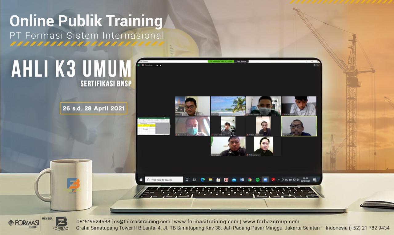 Online Training Ahli K3 Umum BNSP, 26 - 28 April 2021
