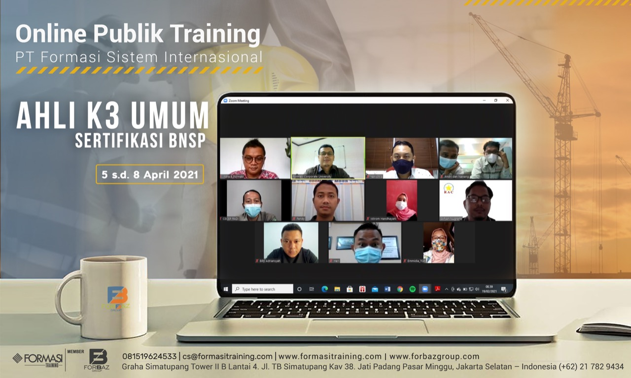 Online Public Training Ahli K3 Umum BNSP 5-8 April 2021
