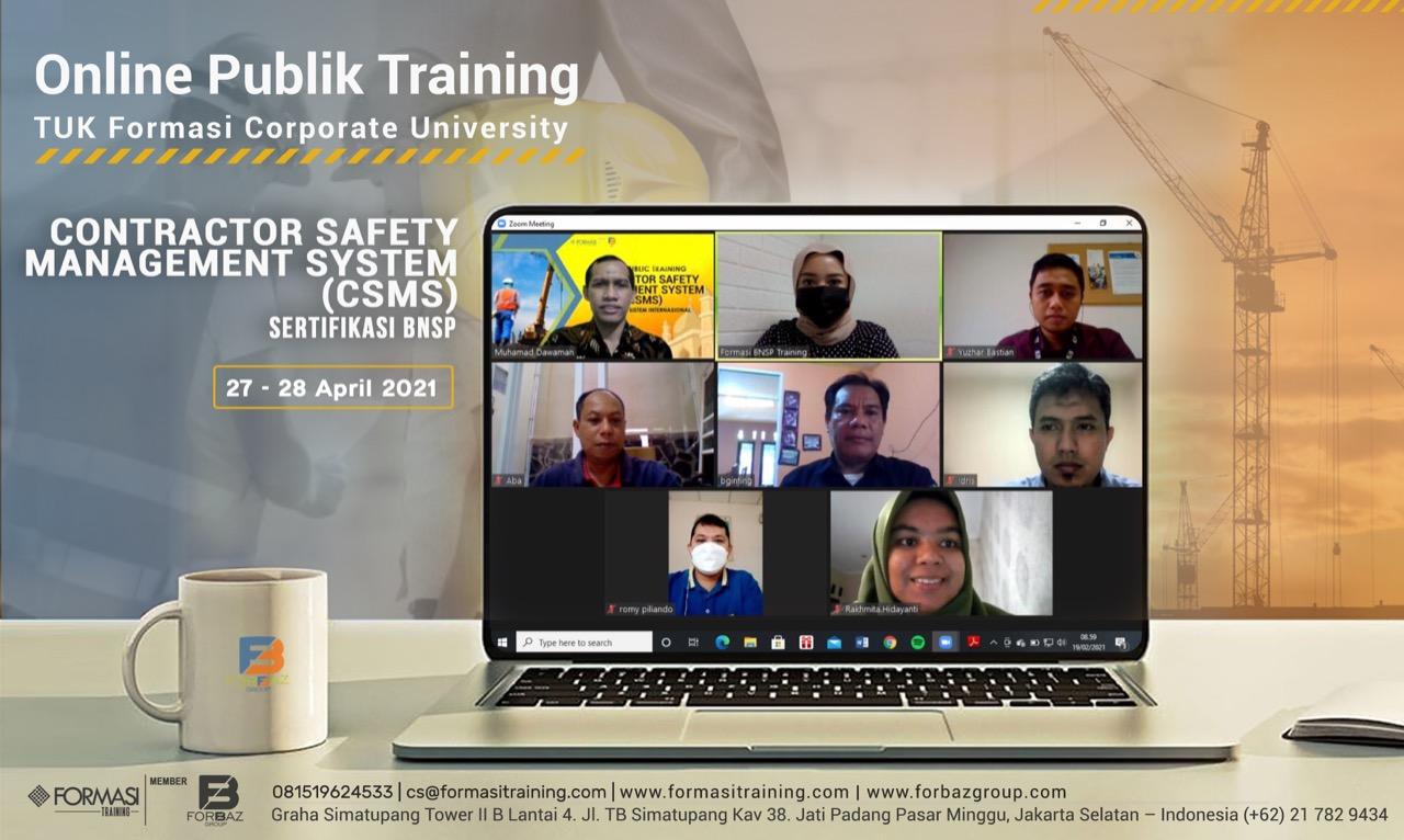Online Training CSMS BNSP, 27-28 April 2021