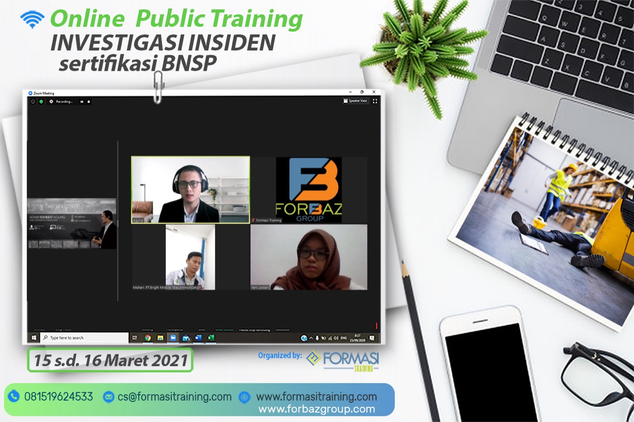 Online Trainin Insiden Investigasi BNSP 15-16 Maret 2021