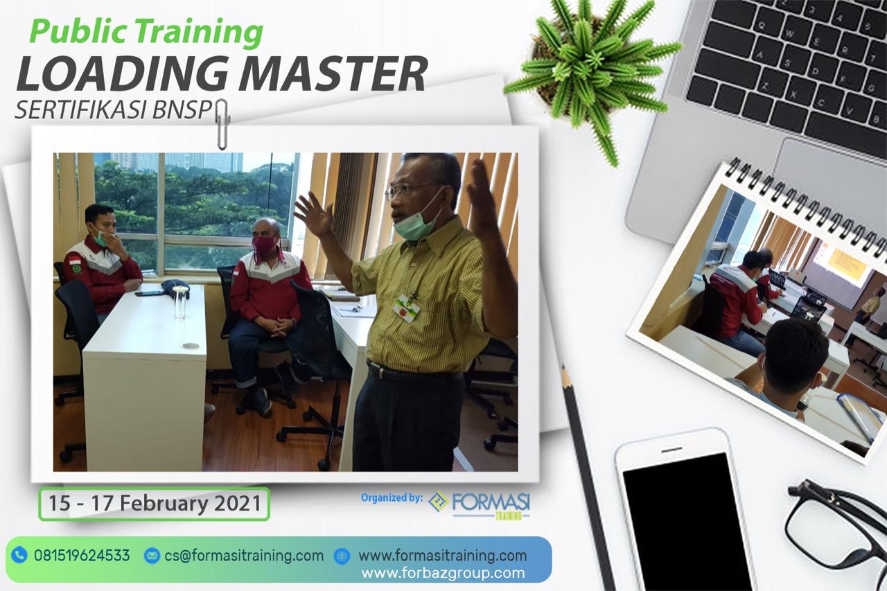 Training Loading Master BNSP, 15-17 Februari 2021