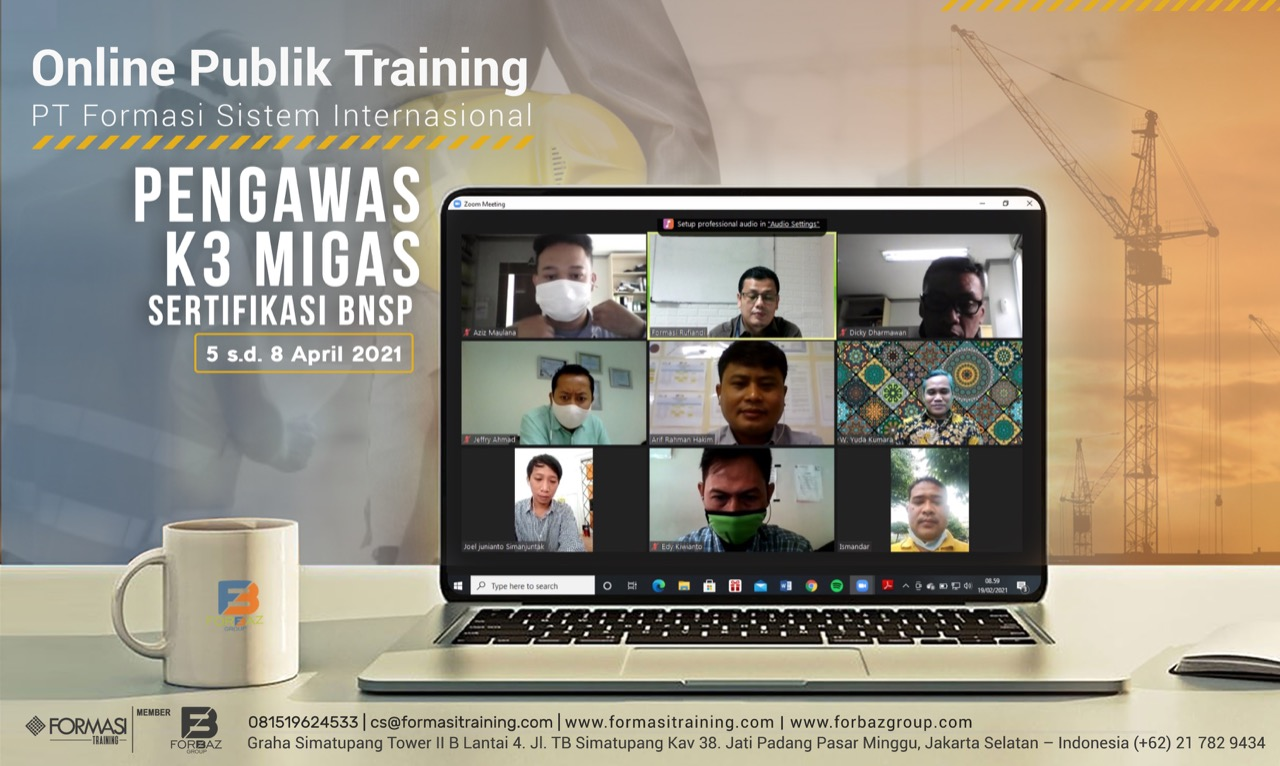 Online Public Training Pengawas K3 Migas BNSP 5-8 April 2021
