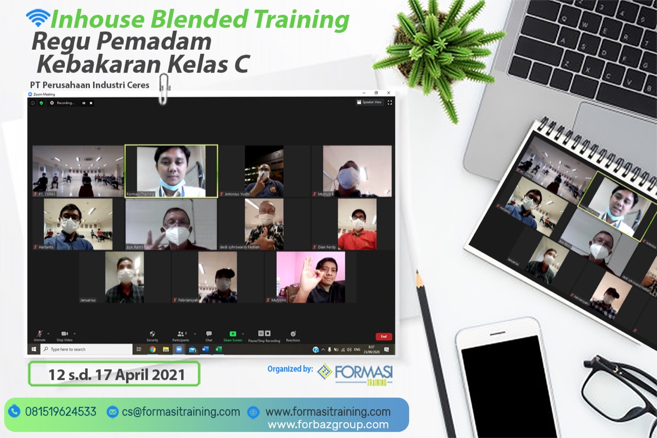 Online Training K3 Kebakaran kelas C PT Perusahaan Industri Ceres 12-17 April 2021