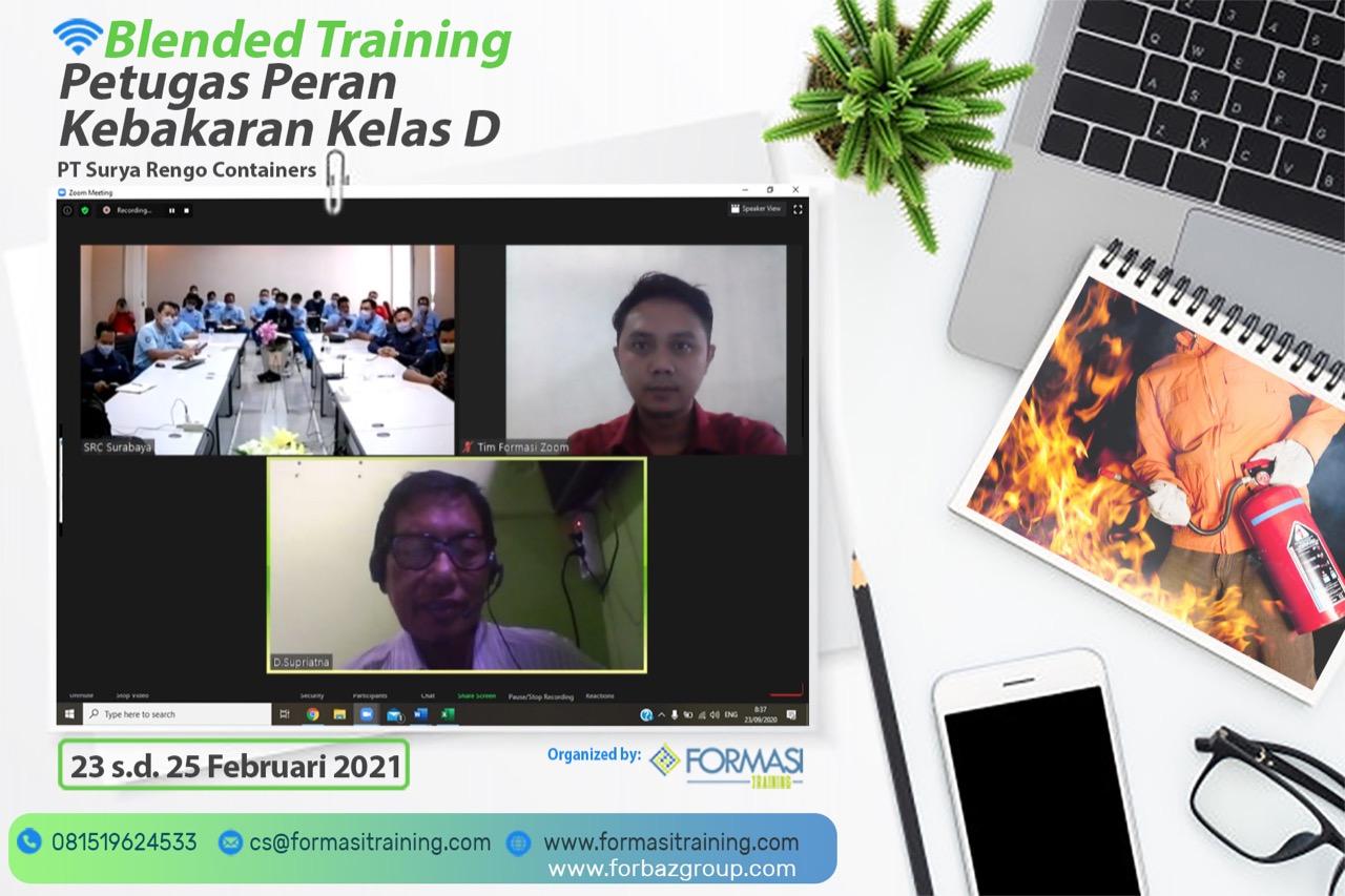 Training Damkar D PT Surya Rengo Containers, 23-25 Februari 2021