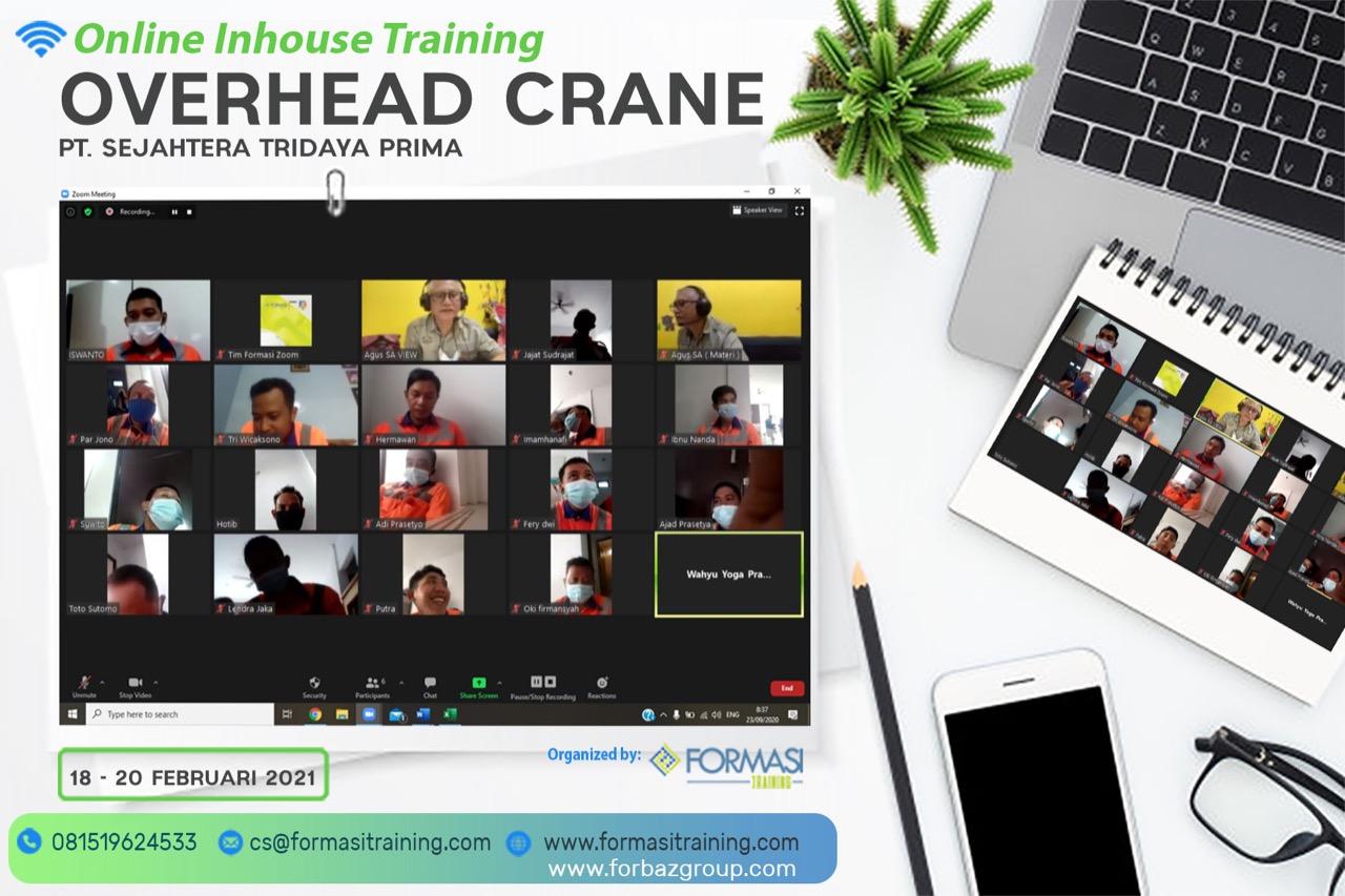 Online Training Overhead Crane PT. Sejahtera Tridaya Prima, 18-20 Februari 2021
