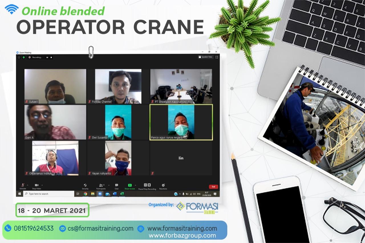Online Training Operator Crane 18-20 Maret 2021