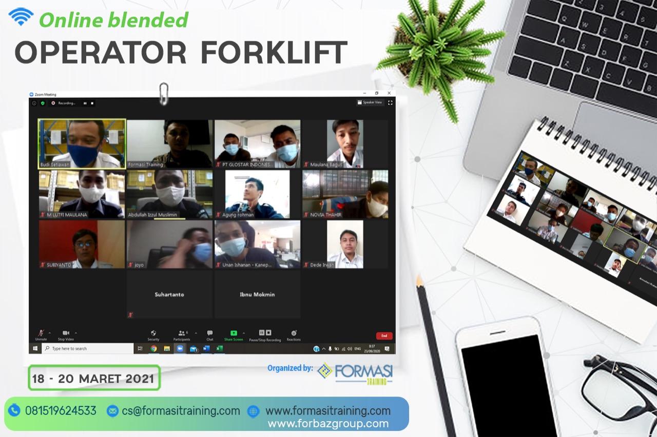 Online Training Operator Forklift Tanggal 18-20 maret 2021
