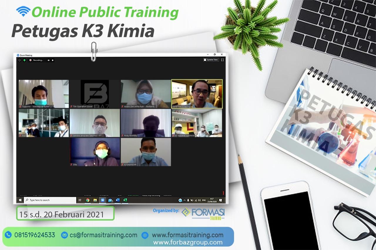Online Training Petugas K3 Kimia, 15 - 20 Februari 2021