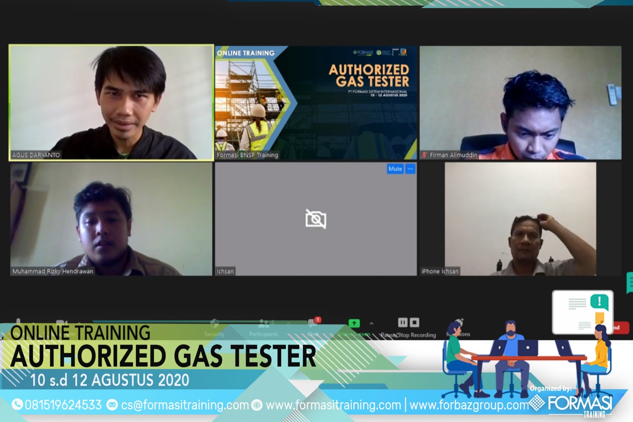 Online Training Authorized Gas Tester 10 s.d. 12 Agustus 2020
