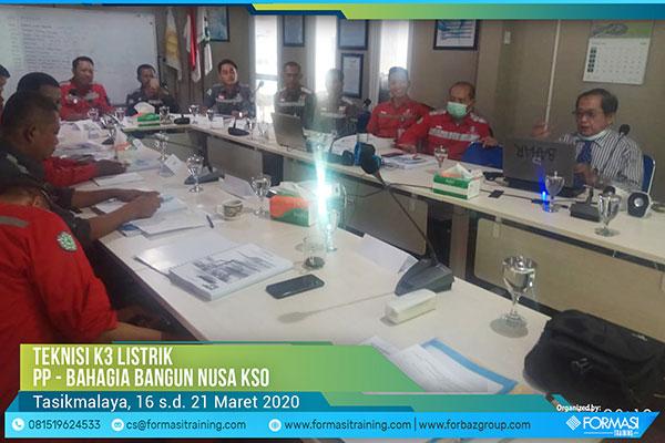 Teknisi K3 Listrik Bahagia Bangun Nusa KSO